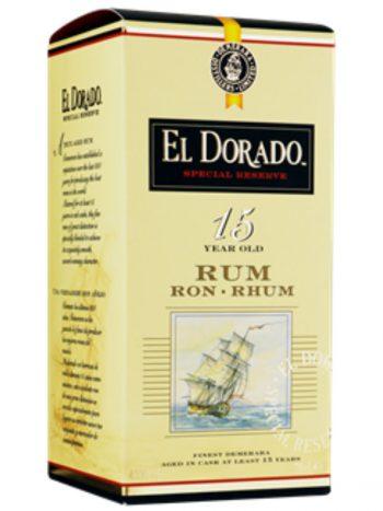Doos El Dorado rum 15 jaar